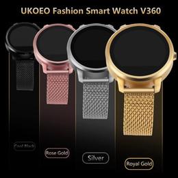 Nouveaux écrans de téléphone en Ligne-Nouvelle arrivée écran UKOEO V360 Sport Podomètre sans fil Bracelet Bluetooth tactile de téléphone portable mobile poignet montre Smart Watch