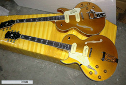 Guitares main gauche corps creux à vendre-NEW Gaucher Guitare 175 Corps creux guitare électrique Goldtop Guitare OEM