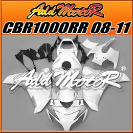 Wholesale Addmotor Injection Mold Aftermarket Fairings Fit Honda CBR1000RR CBR RR Body Kit Silver White H1812 Five Free Gifts