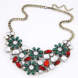 2016 Fashion European and US Choker Bib Statement Necklace Elegant Rhinestone Necklaces & Pendants Vintage Collier Femme Necklaces