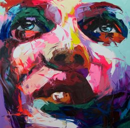 Wholesale DHL nielly francoise reproductions Oil painting on canvas portrait knife handmade Abstract art