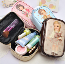 Wholesale Fashion Women Pillow Shape cute doll PAPER DOLL girl princess MATE trumpet makeup Bag Storage Bag