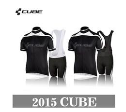 2017 baberos ciclismo cubo Al por mayor-Nueva cubo Estilos equipo de ciclo jerseys de la bici Jersey + bib de ciclo cubo de 2015 deportes de los hombres que montan la ropa de la bicicleta baberos ciclismo cubo baratos