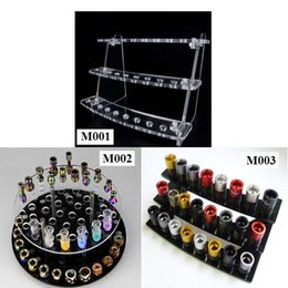 Wholesale Acrylic drip tip display shelf e cigarette stand for drip tips ecig display holder show case ego holder rack atomizer display stands