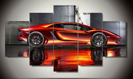 Wholesale Wall Art Picture Panel Cool Orange Reflective Sports Car Large HD Canvas Print Painting For Living Room Decoration F