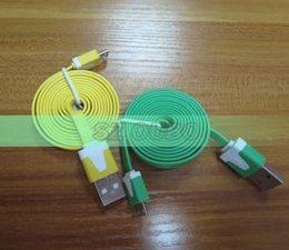 Micro USB Flat Cable USB Sync Data Charger Noodle Cables 1 Meter for Samsung   HTC   Blackberry   all Android Cell Phones