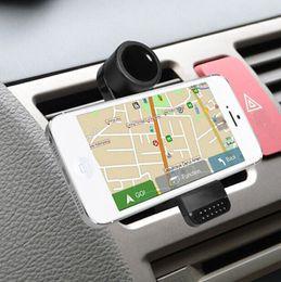 Vent mount gps en Ligne-Support de téléphone portable universel Support de montage de ventilateur de voiture pour Samsung Galaxy S4 S5 Note 3 pour téléphone 5S 6 Plus GPS PDA