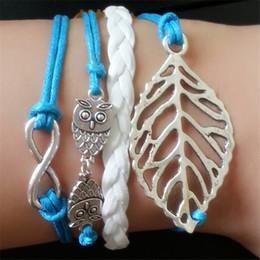 Charm Bracelets for Women Men Fashion Indian Handmade Jewelry Statment Bohemian Leather Bracelet Pulseras Love Leaf Wrap Infinity Bracelets