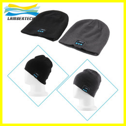 Wholesale Bluetooth Music Beanies Winter Hat With Mini Wireless Speaker Bluetooth Receiver Amplifier Audio Music Speaker Smart Cap Headset Headphone