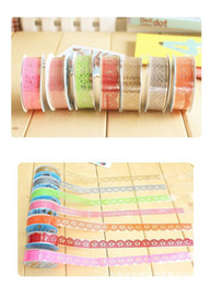 Wholesale DIY Cute Colorful Kids Photo Props Lace Flower Tape for Scrapbook Decor Photo Albums Accessories washi tape TY1019