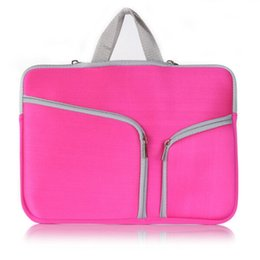 Wholesale New inch Laptop Notebook Zipper Briefcase Bag for Macbook Air Pro inch Sleeve Case