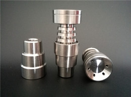 Wholesale 4 In Universal Domeless Titanium Nail fits to mm mm for Water Pipe Glass Bong Smoking