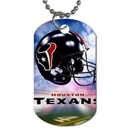 Wholesale houston texans Customized Colorful Design Dog Tag Necklace Aluminum Tag for Animal Pets Tag