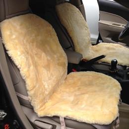 Wholesale Short Wool Sheepskin Car Cushion Patchwork Sheeps Skin Car Seat Covers No Cap