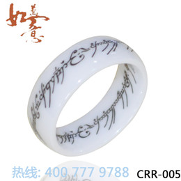 Magic Lord of the White Ceramic Rings Domed Ceramic Ring Fashion Bling Rings
