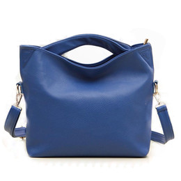 Canada Marque célèbre dames femmes de luxe sacs à main en cuir et sacs de messagerie femme sangle longue solide orange bleu accroche épaule vintage blue boston bags on sale Offre