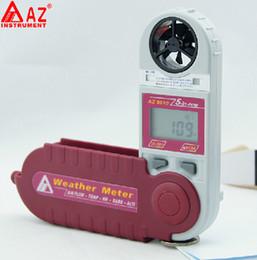 Mini Anemometer Wind Speed Air Flow Temp. Humidity Windchill Dew Point Heat Index Altitude Barometric Pressure Meter Tester 8910