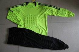 Wholesale Hight quality goalkeepers suit net shade board gantry service suit goalkeeper goalkeeper service long sleeved pants suit