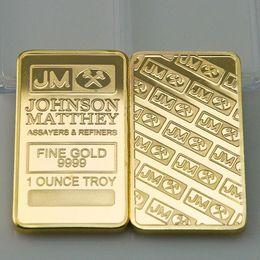 Wholesale 2 America JM Johnson Matthey bank Morgan gold plated bullion bar