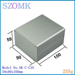 10 pcs, szomk amplifier aluminium enclosure 59*90*100mm aluminium enclosure distribution box aluminum extrusion enclosure box AK-C-C35
