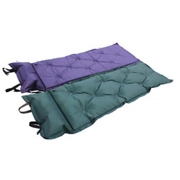 Wholesale Camping Mat Waterproof Automatic Self Inflating Dampproof Outdoor Sleeping Pad Camping Tent Air Mat Mattress with Pillow Y0746