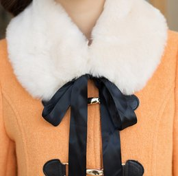 Wholesale-Fashion Fur collar Woolen Coat Family Set Parent-Child Clothes for Mother and Daughter Women Woolen Coat Girls Wool Coats BL79
