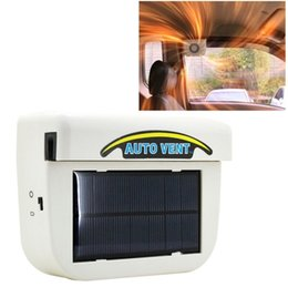 Wholesale Solar Powered Car Auto Cooling Fan Air Vent Ventilate with Rubber Strip Car Heat Fan System Keep Your Parked Car Cooler White