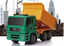 Wholesale Remote control truck Large electric car Four wheel drive truck Dumpers Dump Truck Authentic Guaranteed
