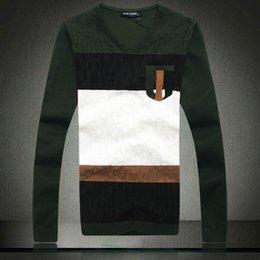 Male sweater 2014 new autumn and winter fashion color block decoration V-neck pullover sweater male slim sweater