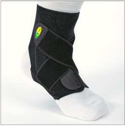 Wholesale cheaper outdoor sports spirally wound bandage ankle support basketball running adjustable ankle brace protection