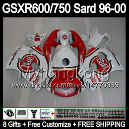 Wholesale 8Gift Fairing For SUZUKI GSXR600 GSXR750 SRAD GSXR MY3 GSX R600 R750 Lucky Strike Body