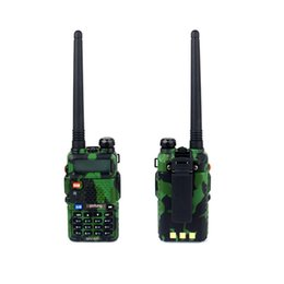 Wholesale-New BaoFeng UV 5R Walkie Talkie Camouflage Pofung Radio UV-5R Two Way Radio 5W 128CH UHF&VHF Handled Transceiver Intercom