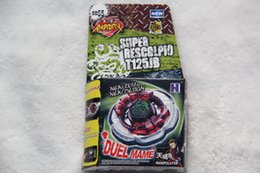 Wholesale New Arrive BEYBLADE BB65 COUNTER ROCK SCORPIO Escolpio T125JB METAL FUSION Without Launcher