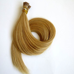 Brazilian hair I Tip Human Hair extensions Pre bonded 100g 100Strands 18 20 22 24inch #22 color Straight Indian hair products