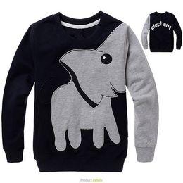 Wholesale Kids round neck sweater over Meng cartoon elephant long sleeved round neck sweater hedging WG219