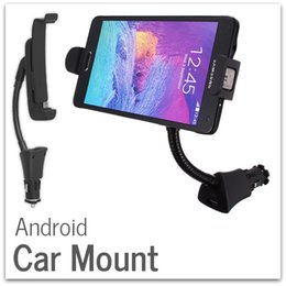 Wholesale 50x Android Car Mounts Holder for Universal Phone with Micro USB Charger Dock Compatible with inch inch Phone Gooseneck Design DHL