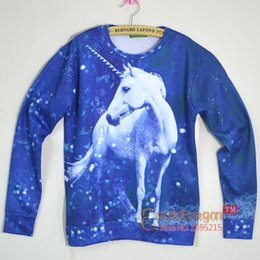Wholesale 2014 Hot animate unicorn print D cartoon sweatshirt for men women anime unicornio tiger galaxy hoodie pullovers