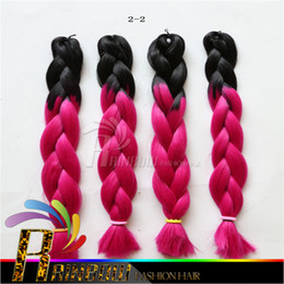Fashion hair Factory price Kanekalon Ombre Braiding Hair Two Tone Jumbo Braid Synthetic Braiding Hair Extensions