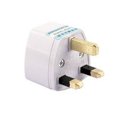 Wholesale 2015 New Universal US AU EU pin to UK PIN Travel Power Plug Adapter Converter