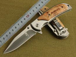 Browning 338 hunting knife 440 blade 57HRC EDC Folding knife pocket Survival camping Knife knives new in original box