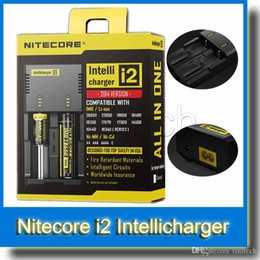 Nitecore I2 Intellicharger Battery Charger Universal Battery Chargers Battery E Cigarette 2 in 1 Rechargerable with US AU EU UK Plug