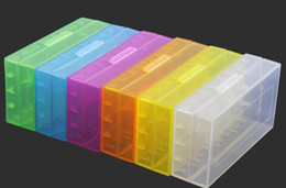 Wholesale Portable Carrying Box Battery Case Storage Acrylic Box Colorful Plastic Safety Box for Battery and Battery Free DHL