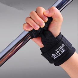 Wholesale Adjustable Hands Wrist Pads protector Weight lifting Pull up Non slip Dumbbells Training Fitness Gym Weightlifting Gloves