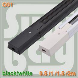 Wholesale 1 meter track light rail high quality led track rail Aluminium rail white or black color