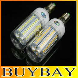 Wholesale High brightness V V W E27 E14 LED SMD con bulb lamp LED bulb lamp leds Warm white white E27 Corn Light chandelier