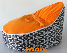 Wholesale Orange seat baby bean bag chair toddlers kids feeding bed