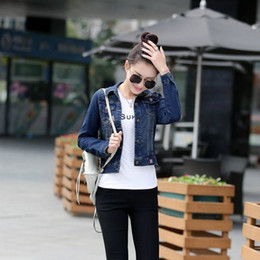 2016 new spring denim jacket Women Korean short-sleeved shirt Slim denim jacket coat jacket