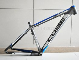 Wholesale Cube Road Bike Frame - Wholesale-2015 CUBE LTD PRO ultra-light aluminum alloy MTB Bike bicycle frame assembled bicycle frame 26*16 18 inch Gray with blue 1600g