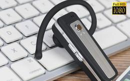 Acheter en ligne Enregistrement vidéo cachée-720P mini écouteur caméra, mini caméra cachée FAKE Bluetooth écouteur Mini DV caméra cachée caméra DVR HD Support Cycle Recording