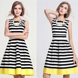 Wholesale Womens Summer Dresses dongguan_wholesale Summer Fashion Vest Striped Dress Large Size Ladies Dresses DR111
